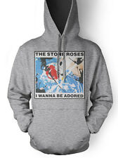 The Stone Roses I Wanna Be Adored Unisex Hoodie t shirt All Sizes Grey