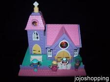 100% Complete (Fully Lights Up) EUC Polly Pocket Wedding Chapel 1993