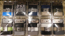 "NEW NIKE 3 IN 1 WEB PACK GOLF BELT - One size fits all up to 42"" - Mult Colors"