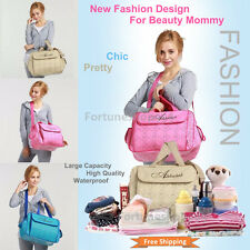 New Fashion Baby Diaper Bag Mommy Nappy Changing Tote Bags Travel Multi Function