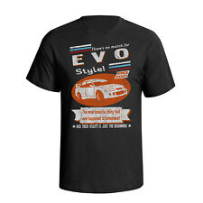 Mitsubishi Evo 7 2001 Retro Style Mens Car T-Shirt
