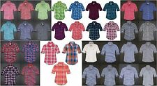 HOLLISTER BY ABERCROMBIE WOMENS BUTTON DOWN SHIRT PLAID STRIPED LONG SLEEVE NWT