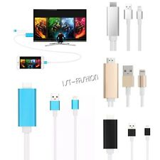 Lightning 8 Pin to HDMI Cable HDTV TV Digital AV Adapter for Apple iPhone iPad