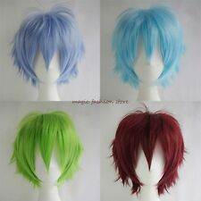 Short Wig Full Hair Wigs Cosplay Costume Party Fancy Dress Synthetic UK Hot Sale