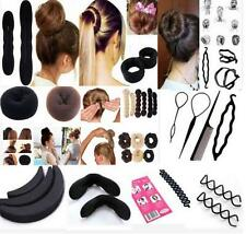 black Magic Sponge Clip Foam Bun Curler Twist Hair Styling Maker Tool set WBCA