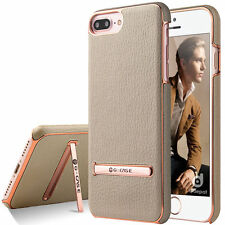 Luxury Plating Gold Ultra Slim Hard stand Cover Case For Apple iPhone 7 & 7 Plus