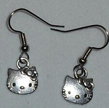 Hello Kitty Necklace and/or Earrings Stainless Steel Ball Chain made in the USA