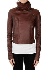 RICK OWENS Woman leather Biker Jacket Made in italy New with tags and Original