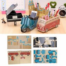 DIY Makeup Stationery Cosmetic Paper Board Storage Box Desk Decor Organizer New