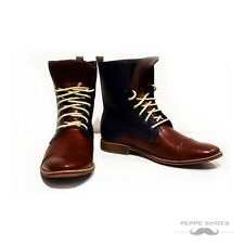 Modello Fiorentina - Handmade Colorful Italian Leather Shoes High Boots Brown