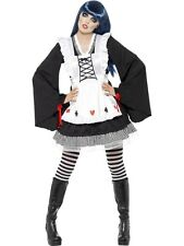 Sexy Adult Gothic Alice in Wonderland Halloween Ladies Fancy Dress Costume