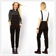 Fashion Womens Casual Jumpsuit Romper Overall Black Pants Adjuster Strap 6 Sizes