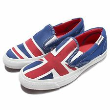 Converse All Star Core Slip On England Flag Red Blue Men Canvas Shoes 148695C