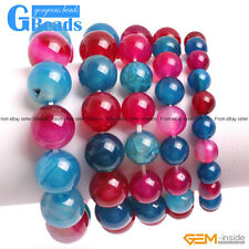 """Handmade Multi-Color Agate Beaded Stretchy Bracelet 7"""" XMAS Gift Free Shipping"""