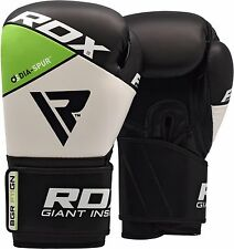 RDX Boxing Gloves Leather Punch Bag Training Kickboxing Sparring MMA Fight UFC W
