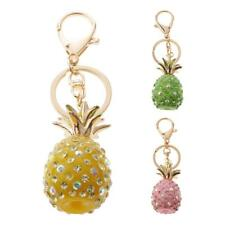 Pineapple Fruit Charm Pendent Crystal Purse Bag Keyring Keychain Key Chain Ring