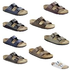Birkenstock Arizona Birko-Flor Mens Womens Sandals Leather Nubuck Oiled Smooth