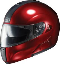 HJC IS-MAX BT Modular Street Helmet Wine Red  Motorcycle