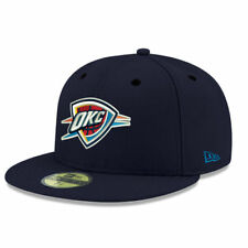 New Era Oklahoma City Thunder Navy Official Team Color 59FIFTY Fitted Hat