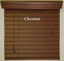 """2""""  Faux Wood  Blinds - Size - 16"""" x 72"""" - Stain Colors - Real Grain Look"""