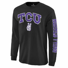 TCU Horned Frogs Black Distressed Arch Over Logo Long Sleeve Hit T-Shirt