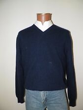 mens sweater-ClubRoom-Large(L)-navy-vneck-100% cashmere