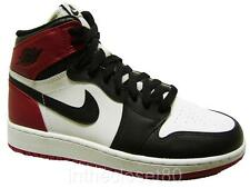 Nike Air Jordan 1 Retro Hi OG GS Black Toe Women Boys Girls Trainers 575441 125