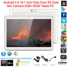 "10.1"" Dual SIM Camera Tablet PC Octa-Core 2GB+16GB Android 4.4 3G WIFI Bluetooth"