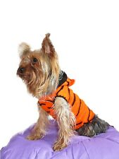 Tiger Dog Costume sweater hoodie puppy pet cat Chihuahua Yorkie clothes outfits