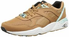 Mens Puma R698 Core Leather Trinomic Trainers Brown White UK Sizes 6.5 - 10.5