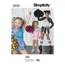 Simplicity Sewing Pattern Childs & Girls Cheer Costumes | Halloween | 8240