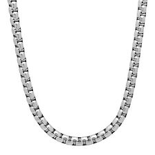 Durable Solid Stainless Steel 5mm Rounded Box Link Chain Necklace