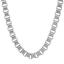 6mm Durable Solid Stainless Steel Brushed Box Link Chain Necklace