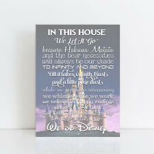In This House We Do DISNEY stretched canvas wall art Disney Quotes poster print