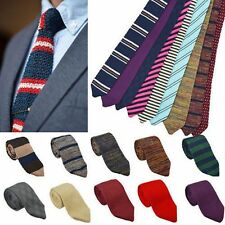Men Fashion Skinny Knitted Neck Ties Narrow Party Striped Neckties Ties