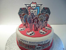 Monster High Edible Wafer Cake Scene Personalized 3D Topper(Precut available)