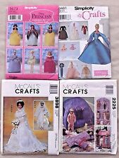 """SIMPLICITY & McCALL DOLL CLOTHES PATTERN 11 1/2"""" FASHION DOLL BARBIE  NEW"""
