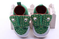 Baby Boy Girl Green Crocodile Crib Shoes Casual shoes Size Newborn to 18 Months