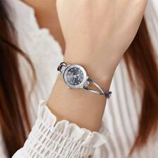 Women Stainless Steel Quartz Wrist Watch Lady Girls Bracelet Bangle Watches Gift