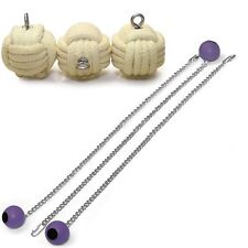 Set of 3 Pro Knob Monkey Fist Fire Poi Medium