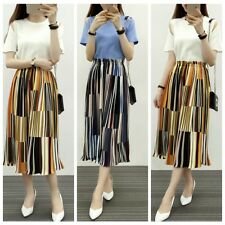 Fashion Summer Women's Lady Casual Skirt Full Length Maxi Pleated Long Skirts
