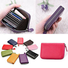 NEW Womens Leather Mini Slim Wallet ID Credit Card Holder Case Organizer Purse