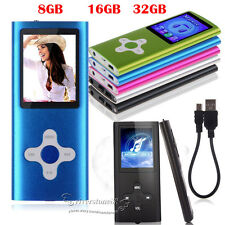 "8GB-32GB Digital MP3 MP4 Player 1.8"" LCD Screen FM Radio, Video, Games & Movie"