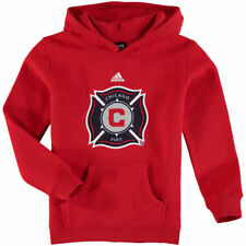 adidas Chicago Fire SC Red Primary Logo Pullover Hoodie - MLS