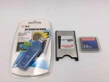 SanDisk CF Compact Flash Card+CF-PCMCIA Adapter+SSK USB2.0 Reader CNC FANUC