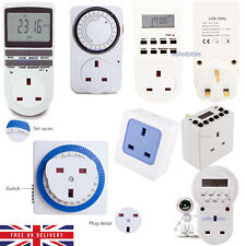 Remote Timer WIFI Sockets Programmable Digital LCD 12/24 Hour 7 Day Mains Plug