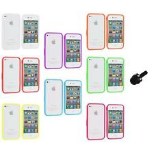 Bumper TPU Solid Jelly Color Rubber Skin Case+Mini Stylus for iPhone 4 4S 4G