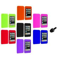 Silicone Rubber Soft Gel Case Cover+Mini Stylus for iPod Touch 3rd 2nd Gen 3G 2G