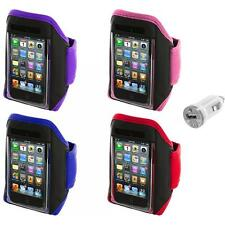 Gym Sports Armband Case Cover+USB Charger for iPod Touch 4th 3rd 2nd Gen 4G 3G