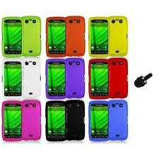Color Hard Rubberized Case Cover+Mini Stylus for Blackberry Torch 9850 9860